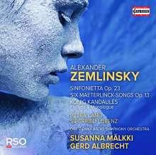 Alexander von Zemlinsky (1871-1942): Sinfonietta op.23, CD