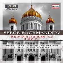 Sergej Rachmaninoff (1873-1943): Liturgie des Hl.Joh.Chrysostomus op.31, 3 CDs