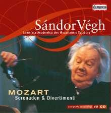 Wolfgang Amadeus Mozart (1756-1791): Serenaden & Divertimenti, 10 CDs
