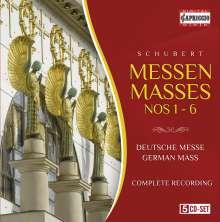 Franz Schubert (1797-1828): Sämtliche Messen, 5 CDs