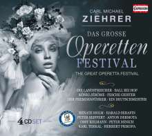 Carl Michael Ziehrer (1843-1922): Das grosse Operettenfestival, 4 CDs