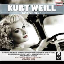 Kurt Weill (1900-1950): Kurt Weill Edition Vol.1, 5 CDs
