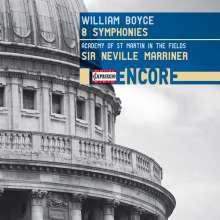 William Boyce (1711-1779): Symphonien op.2 Nr.1-8, CD