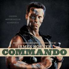 James Horner (1953-2015): Filmmusik: Commando: Original Motion Picture Soundtrack (Limited-Edition) (Bone & Eyeblack Splatter), 2 LPs