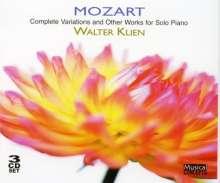 Wolfgang Amadeus Mozart (1756-1791): Variationen KV 25,54,179,180,264,265,352-354,398,455,460, 3 CDs