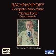 Sergej Rachmaninoff (1873-1943): Das komplette Klavierwerk (The Complete Vox Box Recordings), 6 CDs