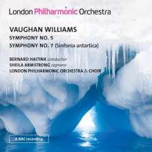 Ralph Vaughan Williams (1872-1958): Symphonien Nr.5 & 7, 2 CDs