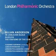 """Julian Anderson (geb. 1967): Poem für Violine & Orchester """"In lieblicher Bläue"""", CD"""
