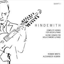 Paul Hindemith (1895-1963): Sämtliche Werke für Violine & Klavier, CD