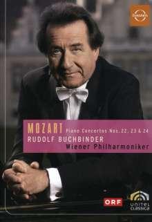 Wolfgang Amadeus Mozart (1756-1791): Klavierkonzerte Nr.22-24, DVD