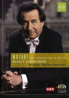 Wolfgang Amadeus Mozart (1756-1791): Klavierkonzerte Nr.14,20,25, DVD