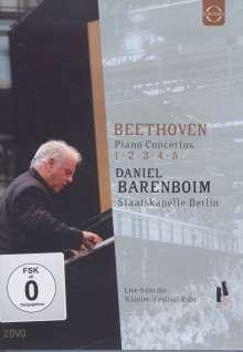 Ludwig van Beethoven (1770-1827): Klavierkonzerte Nr.1-5, 2 DVDs