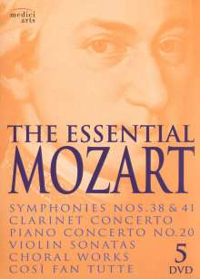 Wolfgang Amadeus Mozart (1756-1791): The Essential Mozart, 5 DVDs