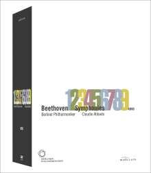 Ludwig van Beethoven (1770-1827): Symphonien Nr.1-9, 4 DVDs