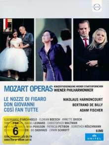"""Wolfgang Amadeus Mozart (1756-1791): Die """"Da Ponte-Opern"""" (Salzburger Festspiele), 6 DVDs"""