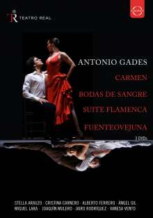 Antonio Gades - Sapnish Dance from the Teatro Real, 3 DVDs
