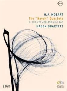 "Wolfgang Amadeus Mozart (1756-1791): Streichquartette Nr.14-19 ""Haydn-Quartette"", DVD"