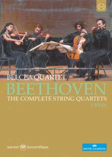 Ludwig van Beethoven (1770-1827): Streichquartette Nr.1-16, 5 DVDs