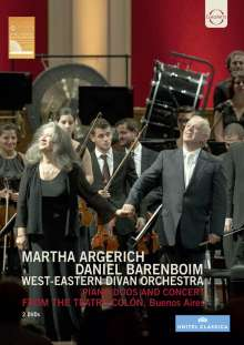 Martha Argerich & Daniel Barenboim - Piano Duos and Concert from the Teatro Colon, Buenos Aires, 2 DVDs