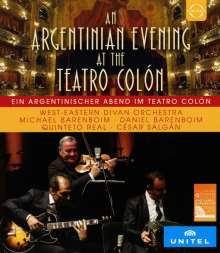 West-Eastern Divan Orchestra - A Tango Evening At the Teatro Colon, Blu-ray Disc