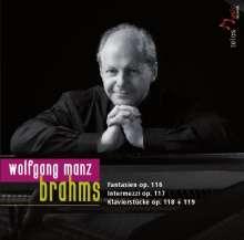 Johannes Brahms (1833-1897): Klavierstücke opp.116-119, CD