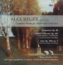 Max Reger (1873-1916): Die Werke für Violine & Orchester, CD