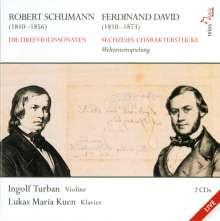Robert Schumann (1810-1856): Sonaten für Violine & Klavier Nr.1-3, 2 CDs