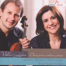 Heitor Villa-Lobos (1887-1959): Sonaten für Violine & Klavier Nr.1-3, CD