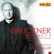 Anton Bruckner (1824-1896): Symphonien Nr.4,7,9, 3 CDs