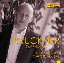 Anton Bruckner (1824-1896): Symphonien Nr.1-3, 3 CDs