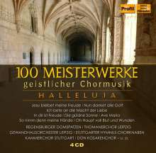 Hallelujah - 100 Meisterwerke geistlicher Chormusik, 4 CDs