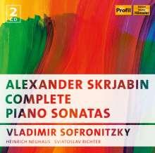 Alexander Scriabin (1872-1915): Sämtliche Klaviersonaten, 2 CDs