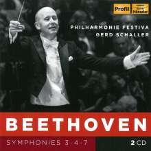 Ludwig van Beethoven (1770-1827): Symphonien Nr.3,4,7, 2 CDs