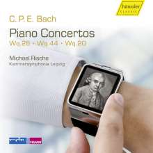 Carl Philipp Emanuel Bach (1714-1788): Klavierkonzerte Wq.20,26,44, CD