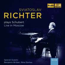Svjatoslav Richter plays Schubert - Live in Moscow 1949-1963, 10 CDs