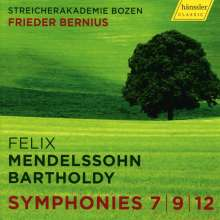 Felix Mendelssohn Bartholdy (1809-1847): Streichersymphonien Nr.7,9,12, CD