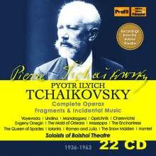 Peter Iljitsch Tschaikowsky (1840-1893): Sämtliche Opern, Fragmente & Bühnenmusiken, 22 CDs