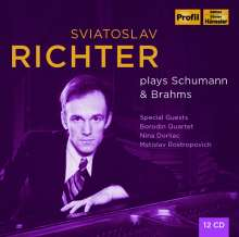 Svjatoslav Richter plays Schumann & Brahms 1948-1963, 12 CDs