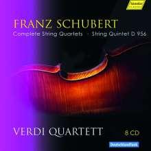 Franz Schubert (1797-1828): Streichquartette Nr.1-15, 8 CDs