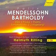 Felix Mendelssohn Bartholdy (1809-1847): Geistliche Chorwerke, 6 CDs