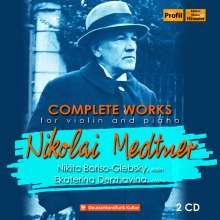 Nikolai Medtner (1880-1951): Sämtliche Werke für Violine & Klavier, 2 CDs