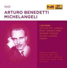 Arturo Benedetti Michelangeli - Live aus Vatikanstadt, London, Rom, Buenos Aires, Warschau, Prag, Mailand, Lugano, Turin, 10 CDs