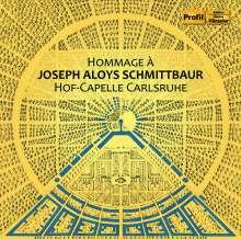 "Joseph Aloys Schmittbaur (1718-1809): Orchesterwerke ""Hommage a Joseph Aloys Schmittbaur"", CD"