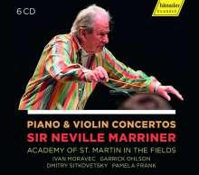 Neville Marriner - Klavier- und Violinkonzerte, 6 CDs