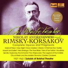 Nikolai Rimsky-Korssakoff (1844-1908): Sämtliche Opern und Fragmente, 25 CDs