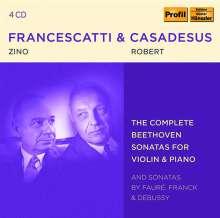 Zino Francescatti & Robert Casadesus - The Complete Beethoven Sonatas for Violin & Piano, 4 CDs