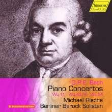 Carl Philipp Emanuel Bach (1714-1788): Klavierkonzerte Wq.11;Wq.24;Wq.43 Nr.4, CD
