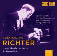 Svjatoslav Richter plays Rachmaninoff & Prokofieff, 11 CDs
