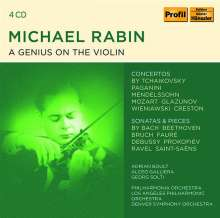 Michael Rabin - A Genius on the Violin, 4 CDs