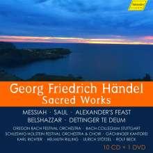 Georg Friedrich Händel (1685-1759): Händel - Sacred Works, 10 CDs und 1 DVD